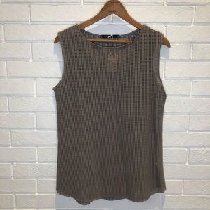 NWT Anthropologie Eloise taupe sleeveless top M